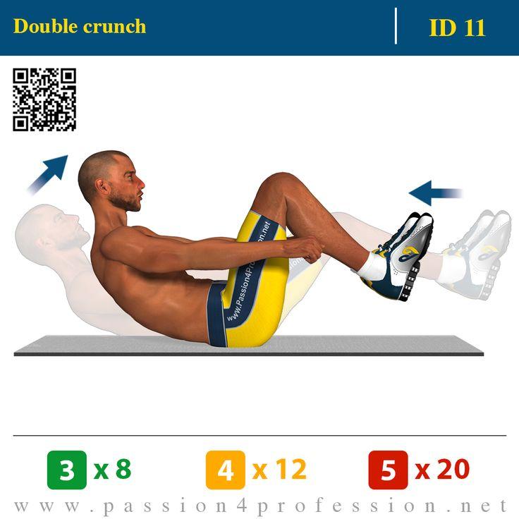 Double Crunch | P4P Exercises: Reps & Sets | Pinterest ...