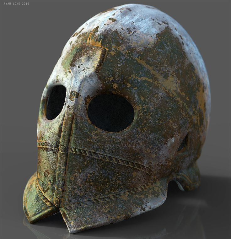 An old helmet made just for fun. Zbrush for modeling, xnormal for baking, Substance painter for textures and Keyshot for rendering. 2048 texture set, model has 8000 tris with interior.