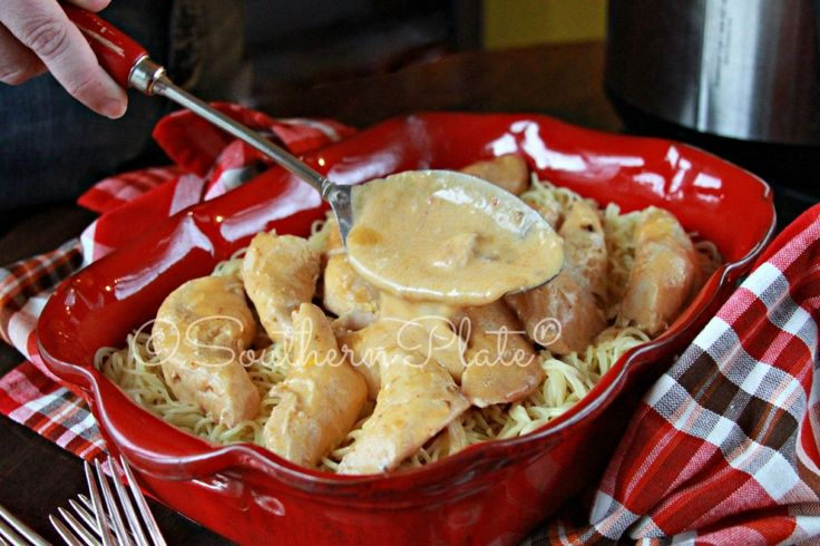 Angel Chicken from Southern Plate - This wonderful Crock Pot meal is a family favorite and so easy to make!