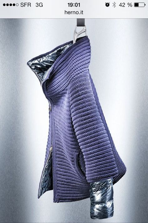 вязание с курткой пуховик