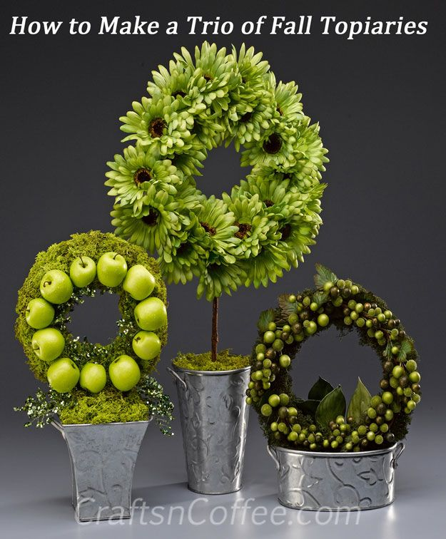 trio fall topiaries tutorial
