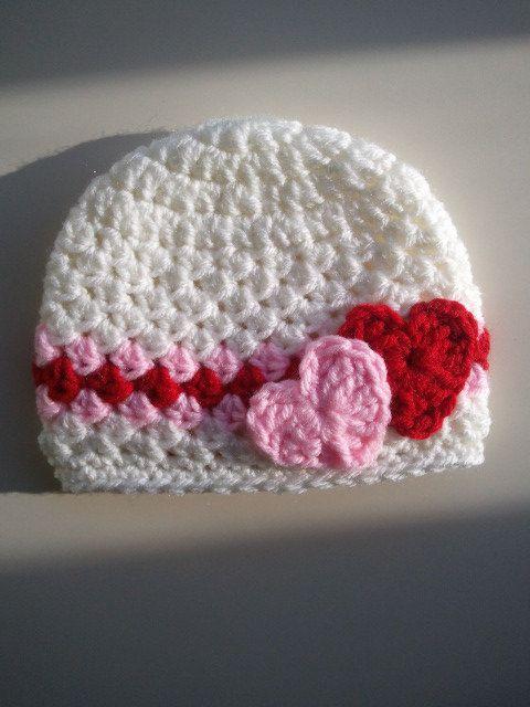 Valentine's Day Crochet Hat Baby Valentine's Day Hat by Hats4Brats