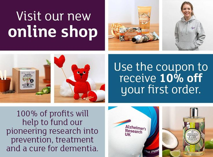 Visit our new online shop and take advantage of our discount code ARUKSHP10 up to 30 Nov. Start your Christmas shopping early or treat yourself! 100% of the profits go towards powering our research to defeat dementia.