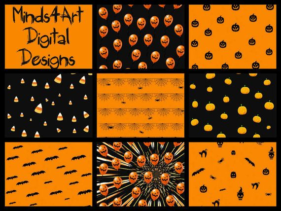 Mega Value Pack Halloween Digital Scrapbook Paper by Minds4Art, $2.79 32 designs great for all sorts of crafts!