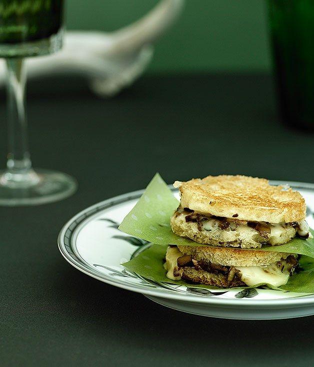 Australian Gourmet Traveller Italian lunch recipe for porcini and taleggio fried sandwiches