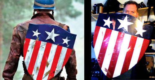 DIY Captain America Shield ..made from a used laminated chair back