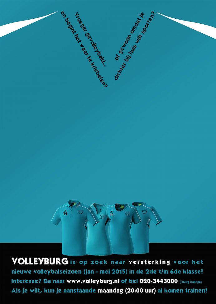 Poster - Ledenwerving Volleyburg