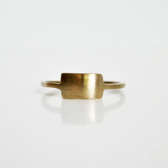 Primitive Bronze Rectangle Ring