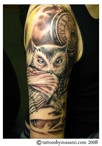140 best images about owl tattoos on pinterest robert for Stop watch tattoos