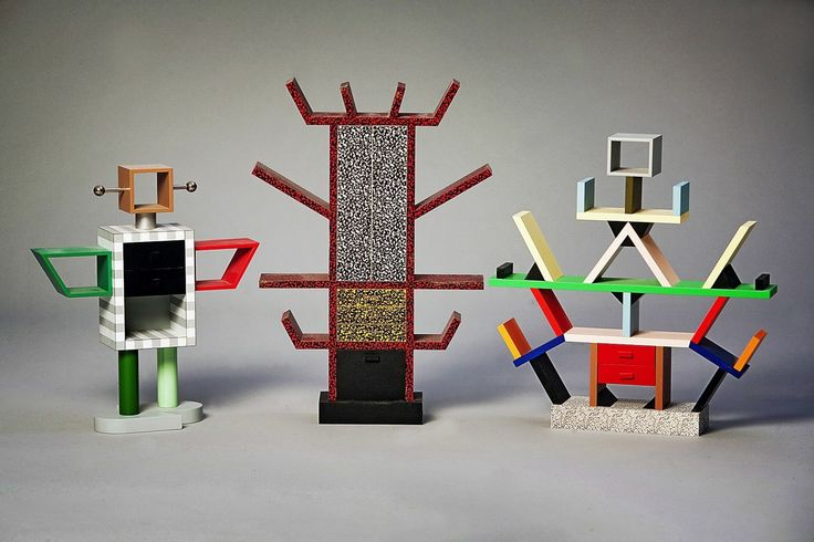 Miniature memphis milano cabinet bookcases by umeda and for Libreria carlton