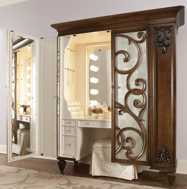 American drew jessica mcclintock couture dressing armoire - Bathroom vanities nebraska furniture mart ...