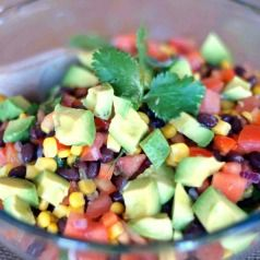 The best corn/black bean salsa you'll ever try. Loaded with avocado.