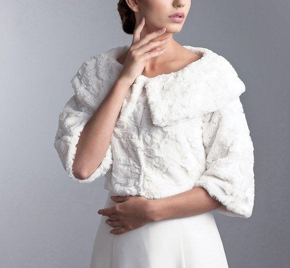 Winter bruiloft jas winter bruids bont jas door LovelyLaceBridal