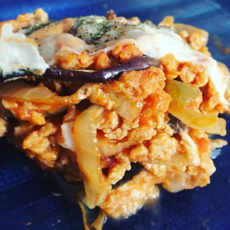 Lasanha de berinjela e proteína de soja clara!  #lasagna #lasanha #healthy #saudavel #berinjela #beringela #pts #carnedesoja #proteinadesojav #vegetariano #vegetarian #meatless #nomeat #oilfree #meatfree #squash #almoço #yummy #delicious #picoftheday #instagood #instafood #tbt #fitfood #fitspo #emagrecer #comidalight #light #cleaneating