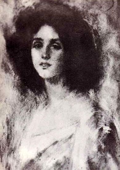 Portrait of Renee Vivien by Alice Pike Barney, Natalie's Mother.