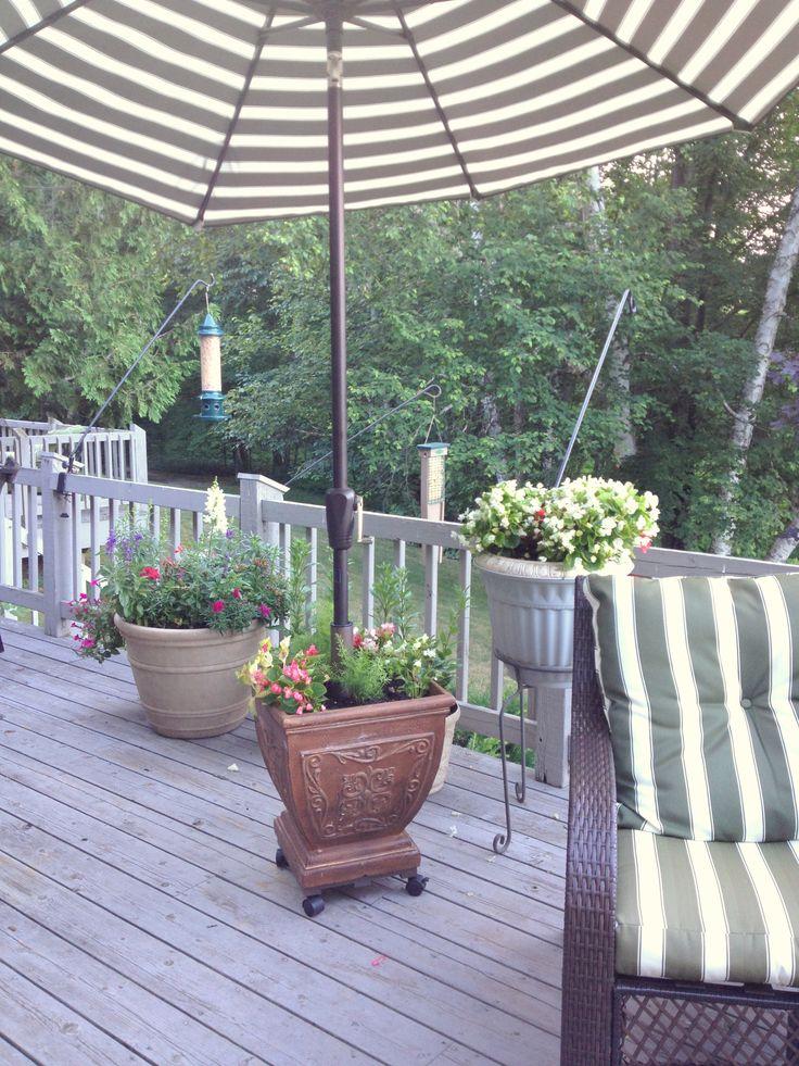 Rolling, Flower Pot/deck Umbrella Stand