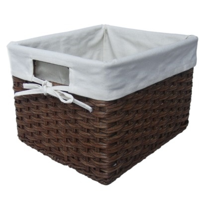 target home small rattan milk crate with lineropens in a new window