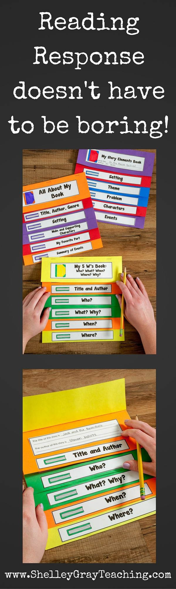 Reading Response Booktivities are a great way to change up your reading response routine! Students choose between a variety of foldable activities to tell about the book that they read. These also make a great portfolio artifact or even a bulletin board display!
