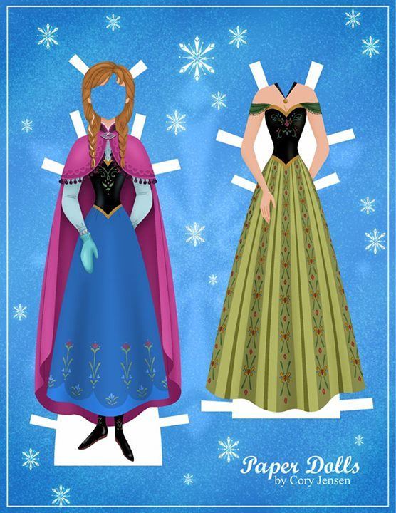 Anna Paper Doll Dress Up Printable