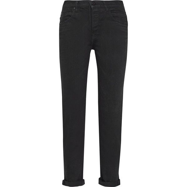 Alexander WangWang 003 Boyfriend Jeans (730 BRL) ❤ liked on Polyvore featuring jeans, pants, trousers, alexander wang, bottoms, black, alexander wang jeans, boyfriend jeans, relaxed boyfriend jeans and faded jeans