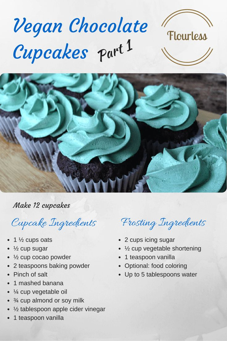 Flourless Dessert Recipe 5 - Vegan Chocolate Cupcakes (part 1)