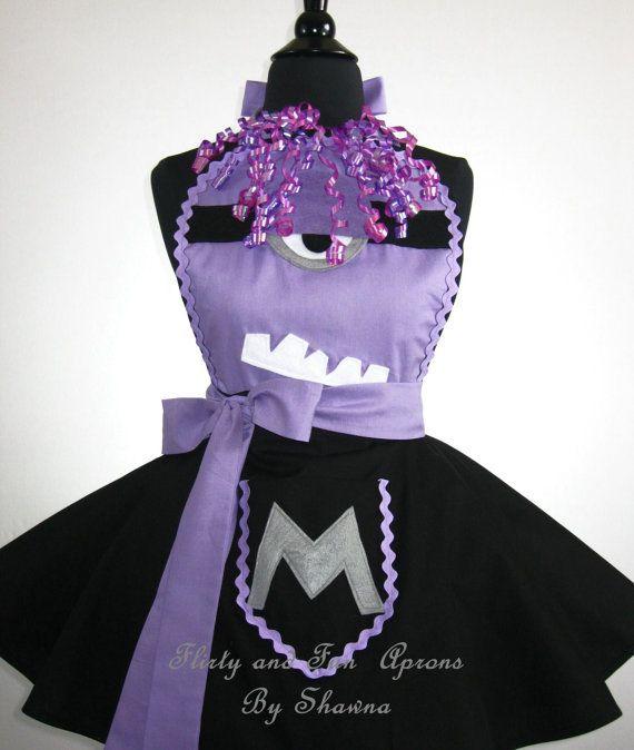 Adult Purple EVIL MINION Costume Apron by FlirtyandFunAprons