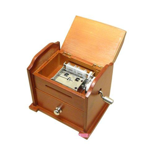 Antique Vintage Wooden Music Box DIY Make Yr Own Song Include a Punch and 3 Music Papers, 1 Has Musical Note and 2 Are Blank and You Can Create Your Own Song! And You Can Also Use a Thickness Paper to Create Music Paper!