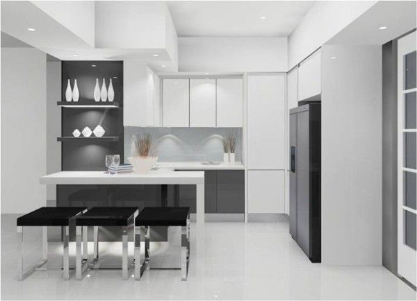 Beautiful Small Modern Kitchens With Compact Kitchen Design : Amazing  Classy Modern Kitchen Craft Cabinet Design Ideas Small Modern Kitchens