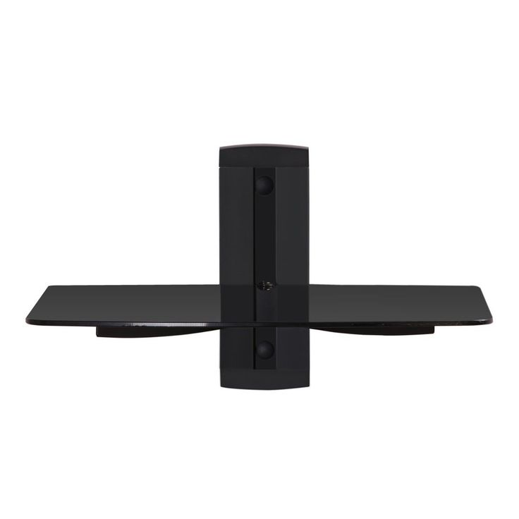 1 Tier Component Wall Mount AV Shelf with glass for DVD/xbox one/ps4/apple tv #Fenge