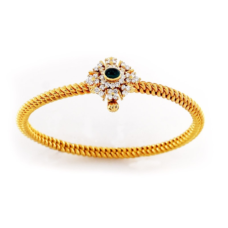 South Indian style twister Bangle #southindiajewellery #bridaljewellery