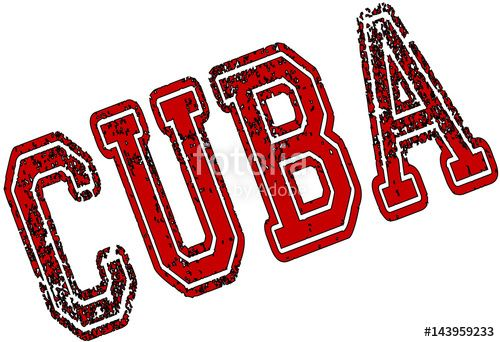 Cuba text sign illustration creato da Morgan