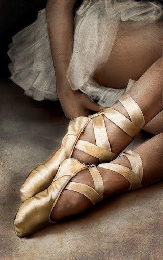 gold ballet slippers...