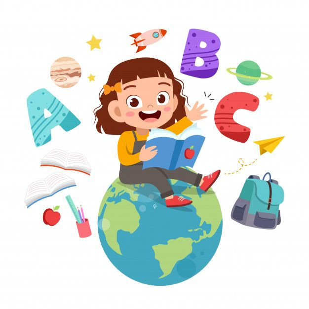 Vector Illustration Of Rainbow Children School Illustration Children S Book Illustration Cartoon Kids