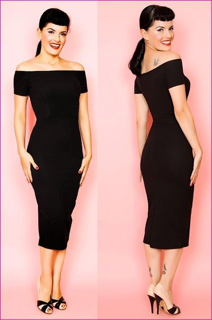 Great Wiggle Dress. Black is slimming and wiggles dresses give you shape rather than make you shapless.