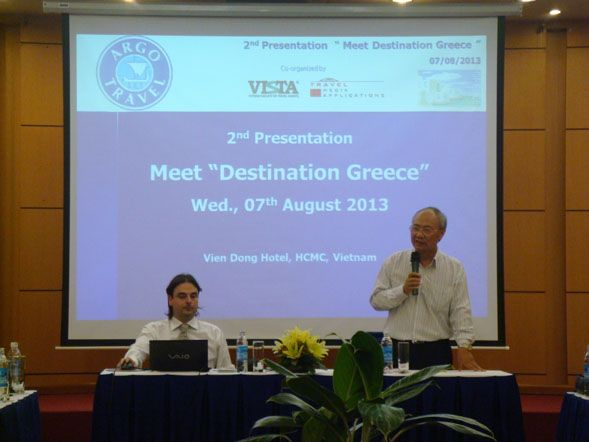 2nd Presentation of Greece and Argo Travel in Ho Chi Minh City, Vietnam. Organized by TMA in cooperation with VISTA.