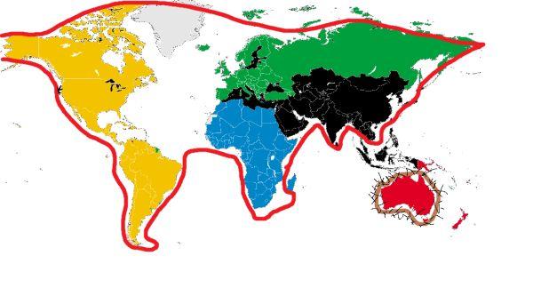 Bahahahaha!! The world is a cat throwing up a hair ball... sorry Australia.