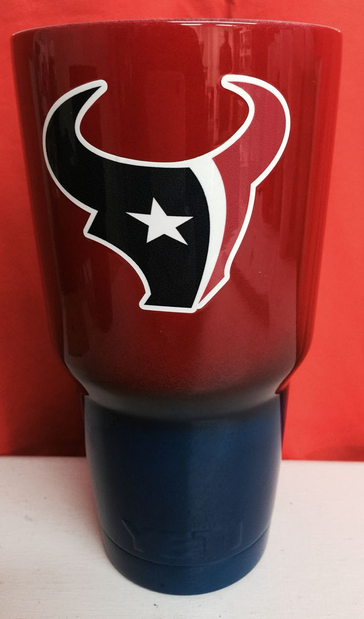 Houston Texans Blue To Red Fade 30oz Yeti Cup Lonestar
