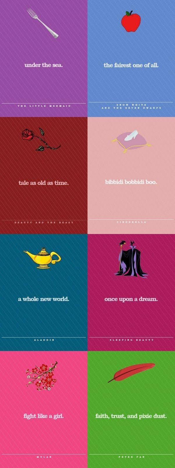 Disney Minimalist Posters