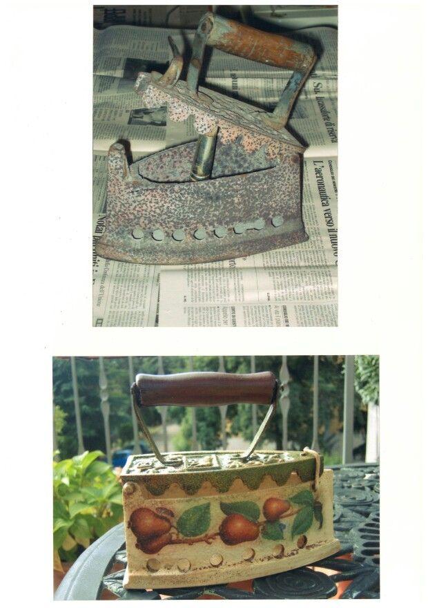 Ferro decorato con il decoupage