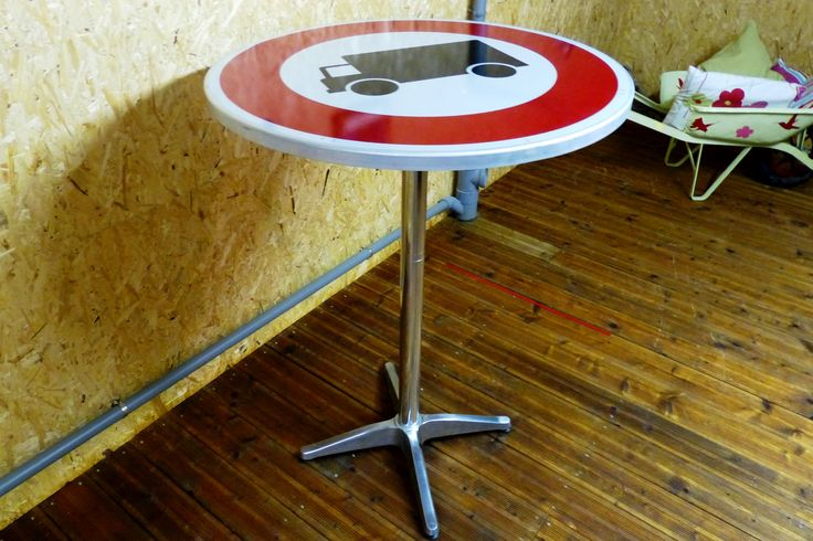 Mange debout panneau signal tique deco pinterest - Mange debout avec rangement ...
