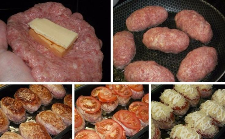 Gefüllte Hähnchenbrust ist ein Klassiker, und es gibt tausende Variationen, wie man sie zubereiten kann. Wie wäre es aber damit, Hähnchen- oder Putenhackfleisch mit Käse zu füllen, braten, mit Tomatenscheiben und Käse zu belegen und das Ganze zu backen? Aus dem Backofen holt man dann bestimmt sehr saftige Frikadellen raus. Manchmal, wenn man Frikadellen in etwas Butter oder Öl bratet, können sie austrocknen, und sind nicht sehr saftig. Deshalb ist es viel besser, sie im Ofen zu überbacken…