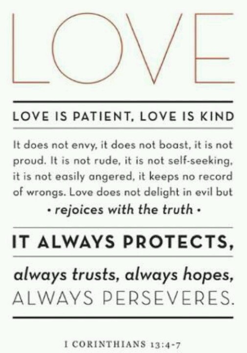 Quotes About Love 1 Corinthians : Corinthians 13 4 7, Inspiration, 1 Corinthians, Love Is, Corinthians ...