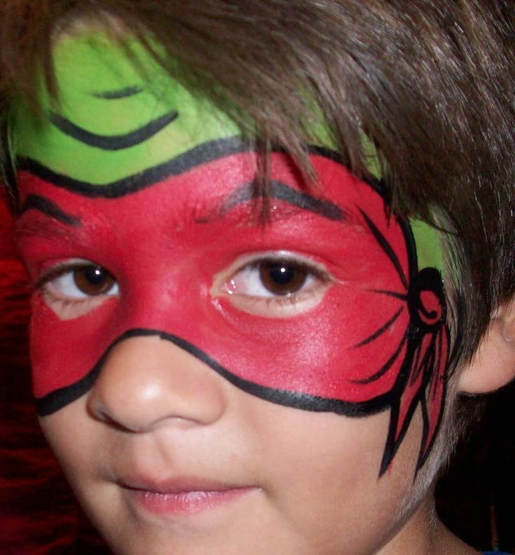 Red Ninja Turtle Photo. I wonder If I could pull  off face painting or fins someone who can lol