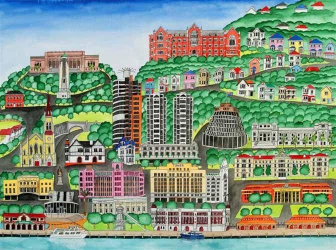 My Wellington by Sarah Platt for Sale - New Zealand Art Prints