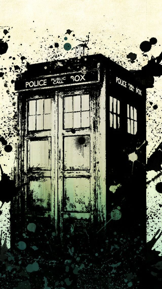 Doctor Who iPhone 5 wallpaper the Tardis