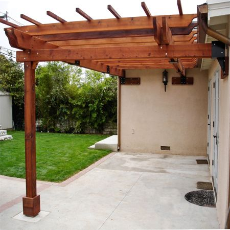 simple practical inexpensive affordable pergola patio - Affordable Patio Ideas