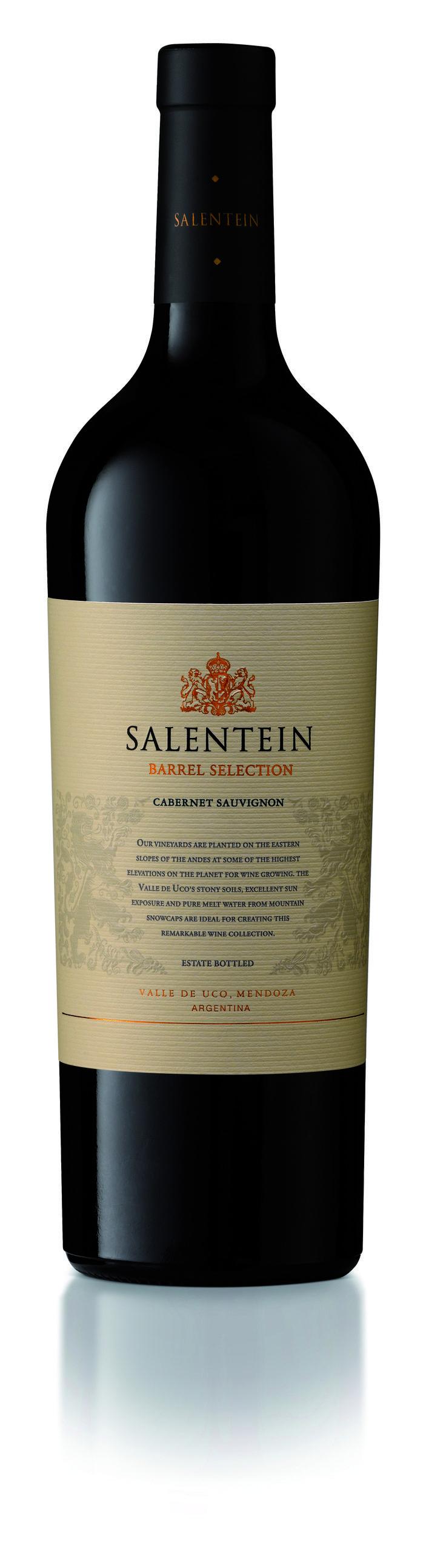 Salentein Barrel Selection Cabernet Sauvignon -  Land: Argentinië -  Streek: Mendoza -  Appellatie: Alto Valle de Uco, Mendoza - Wijnhuis: Bodegas Salentein - Wijnsoort: Rode wijnen - Jaar: 2011 - Inhoud: 75 cl Alcoholpercentage: 14,5% -  Druivensoort(en): 100% Cabernet Sauvignon