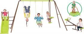 4-Unit Swing Set with Slide and Bonus Junior Jumper†