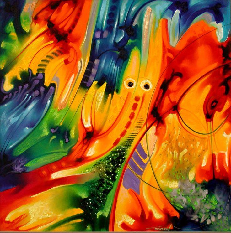 pintura moderna al oleo abstractas