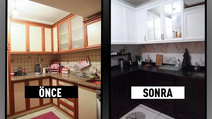 Mutfak Yenileme 3 Dolap Boyama Fayans Boyama Tezgah